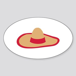 Sombrero Sticker (Oval)